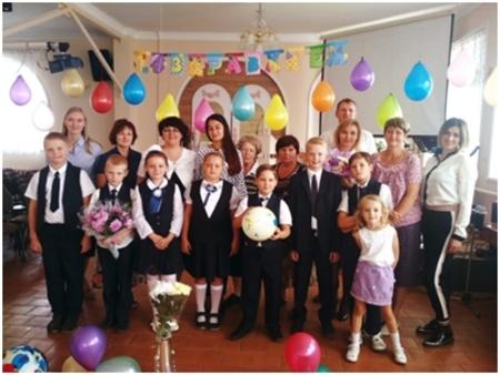 Ученики школы в Воронеже